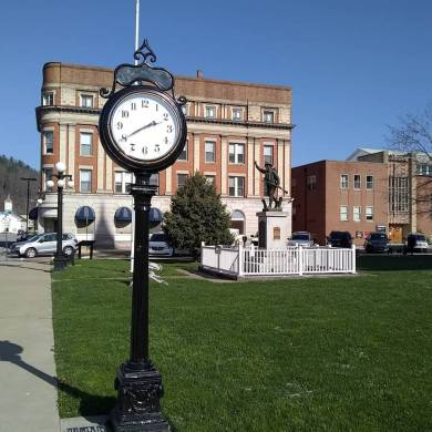 Clock at the Barbour County Court House