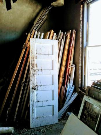 large collection of dirty doors 1st day at the Golden Rule