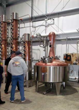 the single pot still at the new location on the outskirts of Weston WV