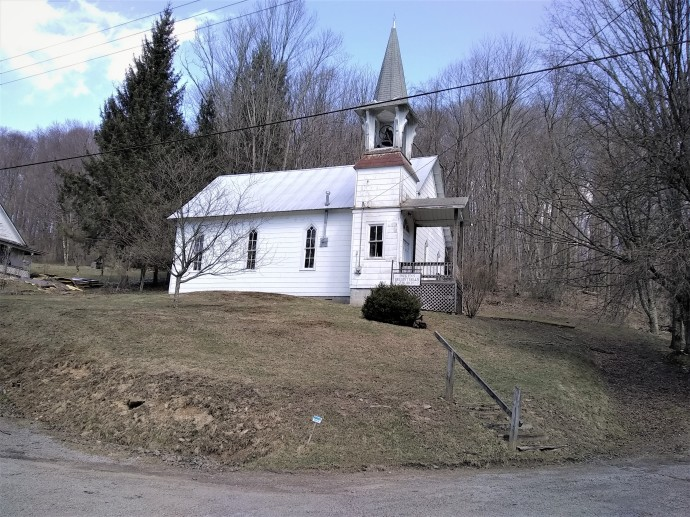CHURCH ON HILL IN PICKENS wv maple syrup festival