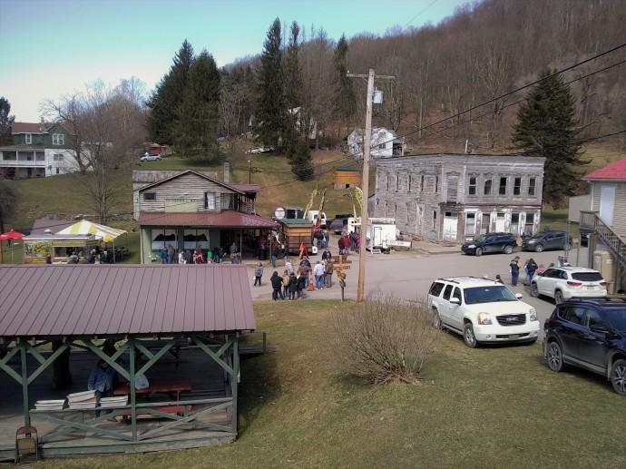 main street of Pickens West Virginia morning