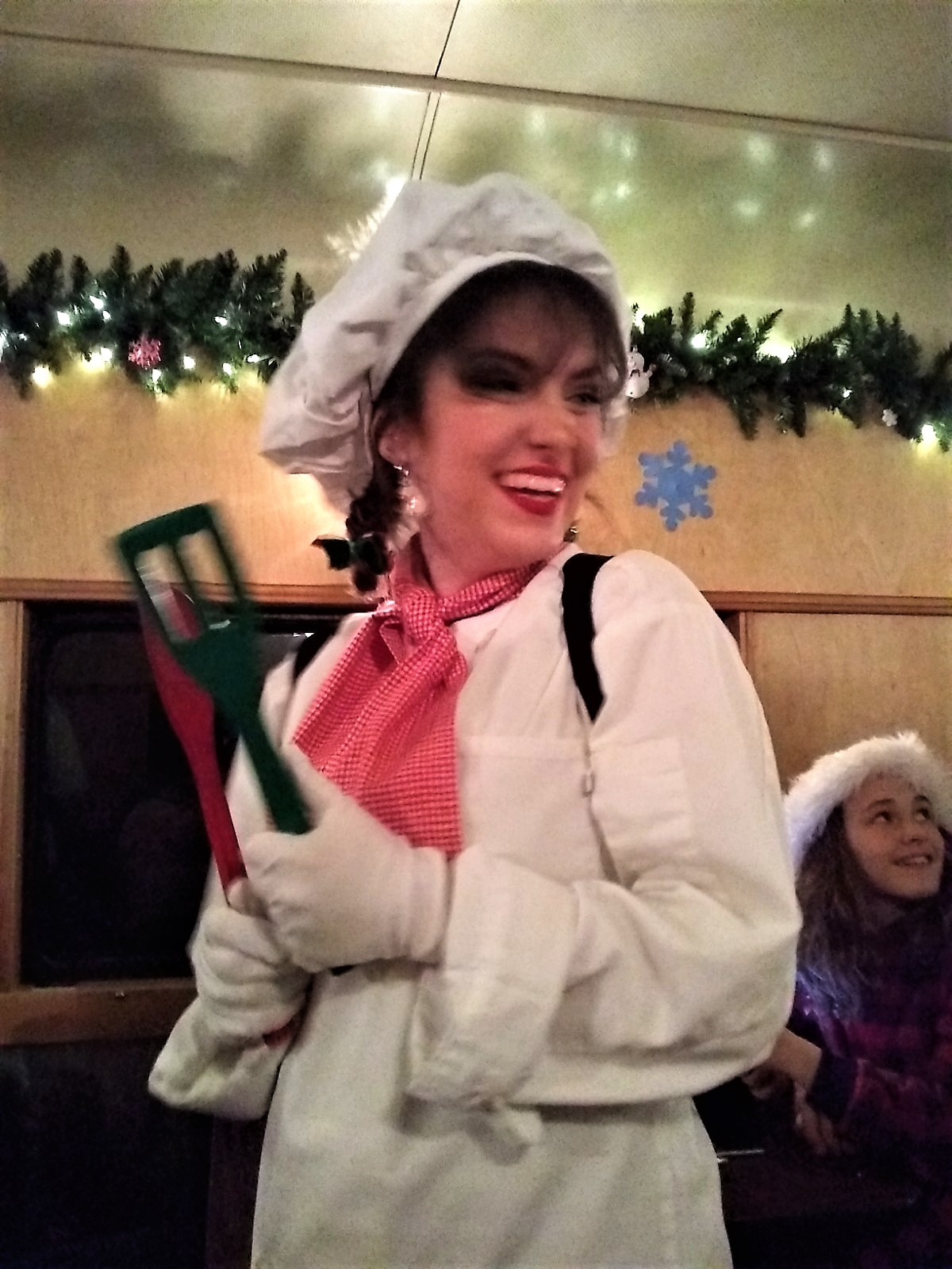 Dancing Chef on Polar Express