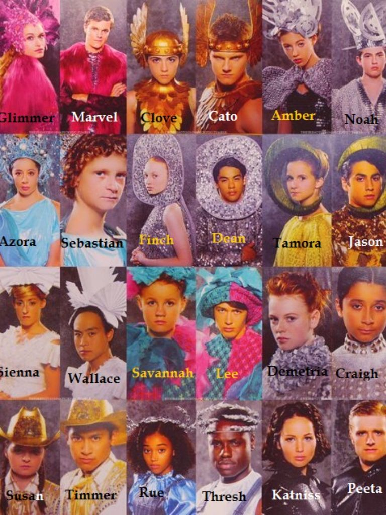 Hunger games tributes