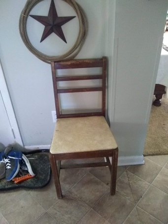Desk chair needing paint and a new seat