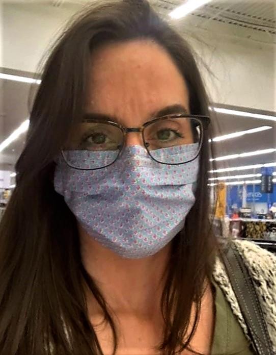 Katrina Smith Johnson with face mask
